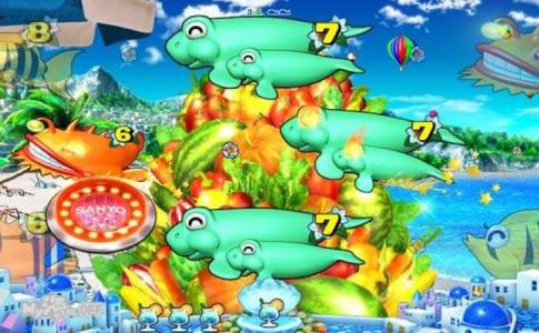 スーパー海物語 IN 地中海 野菜盛リーチ
