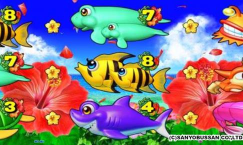 スーパー海物語 IN 沖縄4 中央ラインチャンス目